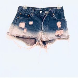 Furst of a kind reworked ombré cut off shorts